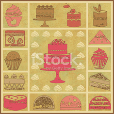 Vintage pastry related poster 1