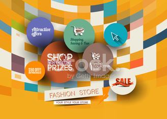 Abstract Fashion Sale Poster Template