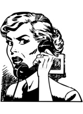 Angry Woman On Phone