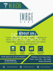 Template, Brochure or Flyer for Medical concept..