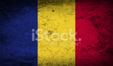 Flag of Romania with old texture.