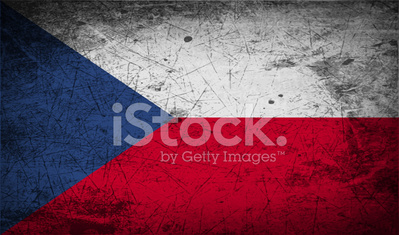 Flag of Czech Republic with old texture.