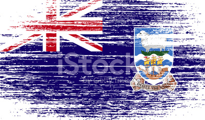 Flag of Falkland Islands with old texture.