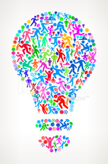 Light Bulb Fitness Sports and Exercise pattern vector background