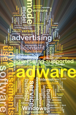 adware wordcloud concept illustration glowing