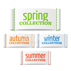 Spring, summer, autumn and winter collection labels