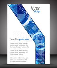 Business A4 booklet cover, flyer design