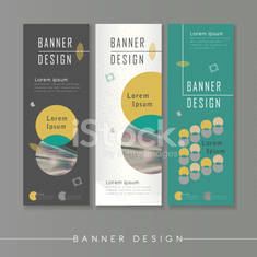 modern abstract banner template design