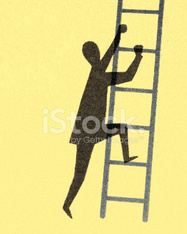 Man Climbing Ladder