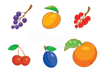 Summer_berries_icon_set