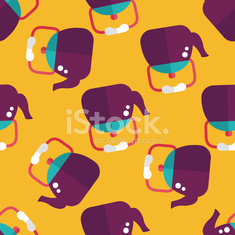 kitchenware tea pot flat icon,eps10 seamless pattern background