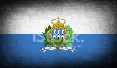 Flag of San Marino with old texture.