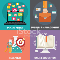 Colorful business, marketing and finance concepts.