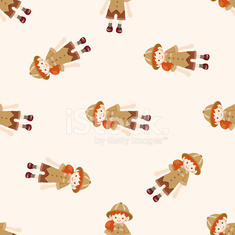 explorer , cartoon seamless pattern background