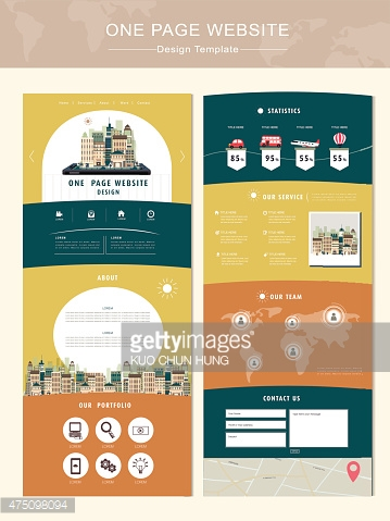 travel concept one page website design template