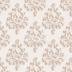Seamless wallpapers in the style of Baroque . Can be used