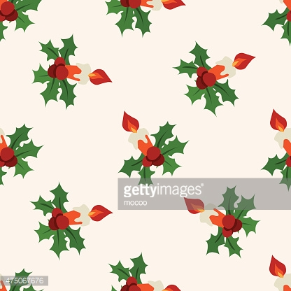 Christmas candle icon 10,seamless pattern