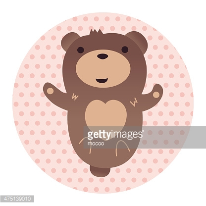 Animal bear flat icon elements, eps10