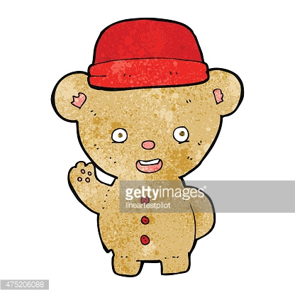 cartoon bear in hat