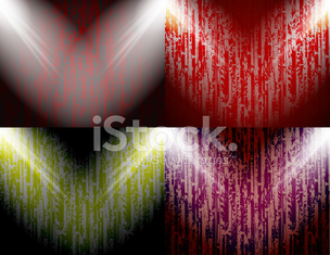 set of abstract colored background spotlights