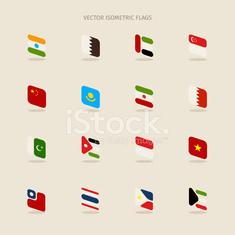 Vector set of isometric flags
