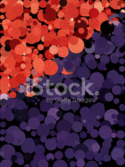 Red and purple background with free form line art texture