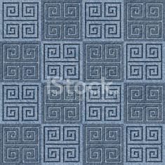 Abstract decorative tiles - seamless pattern - Blue denim jeans