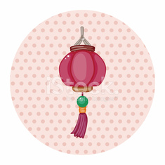 Chinese New Year theme elements, Chinese decorative lantern