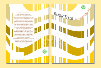 Book cover template, yellow and white