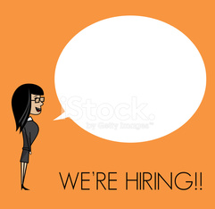 We are hiring man with cloud speech