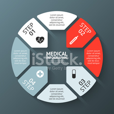 Vector circle plus sign infographic. Template for diagram, graph, presentation