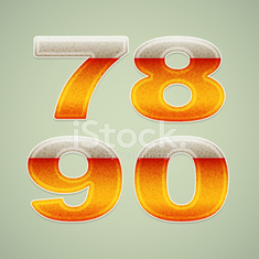 Numbers stylized beer