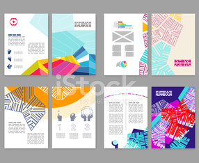Flyer, leaflet, booklet layout set. Editable design template. A4 2-fold