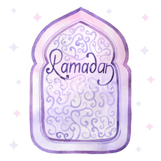 Watercolor Ramadan card
