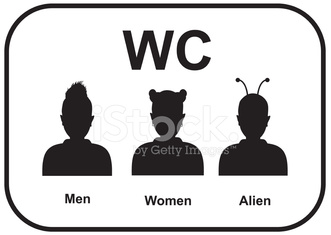 Wc Male And Female Alien Restroom Stock Photos Vectorhq Com