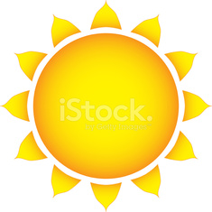 The sun on a white background vector illustration