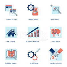 seo search engine optimization icons set vector illustration