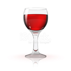 Blank transparent photo realistic isolated on white wine glass with