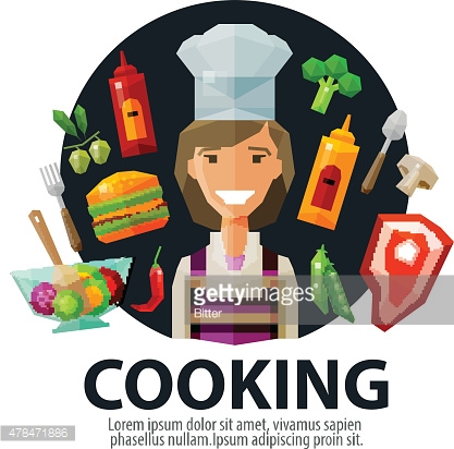 cooking vector logo design template. fresh food, kitchen or cook