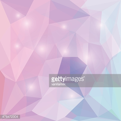 Abstract bright polygonal triangular background with glaring lights for design