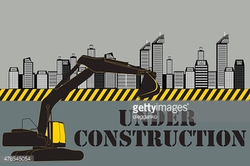 Buildings of the City. Under Construction. Vector Illustration