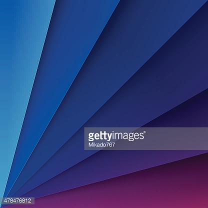 Blue and purple paper layers with realistic shadows abstract bac