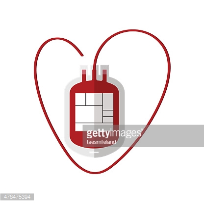 Blood Bag isolated on white,vector