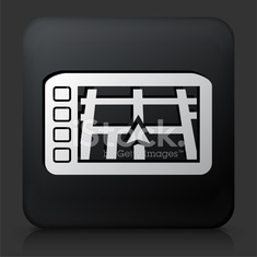 Black Square Button with GPS Navigation