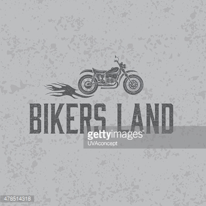 vintage grunge motorcycle with flames graphic vector design temp