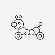 baby toy line icon