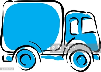 Truck icon, vector animated delivery car illustration.