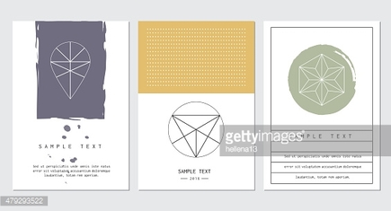 Set of cards for business card, poster or banner designs