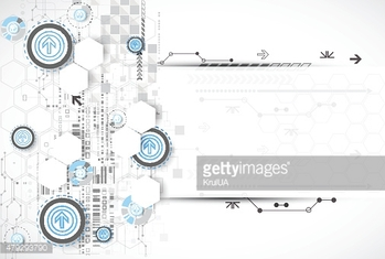 Abstract background with technological elements.