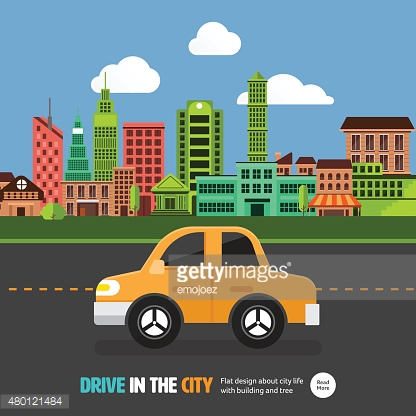Car in the city